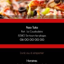 Application mobile Android & IOS, Thème Vitrine Pizzeria et Restauration