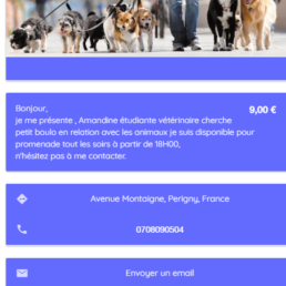 Application mobile Android & IOS, AnimalSitter