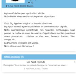 Application mobile Android & IOS, de mise en relation, de recherche et publication d'offres d'emploi