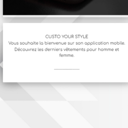 Application mobile Android & IOS m-commerce, commerce mobile, blog interactif