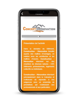 Application mobile Android & IOS, Thème Construction - Rénovation