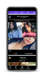 Application mobile Android & IOS de rencontre OneShot, mur social interactif type Facebook